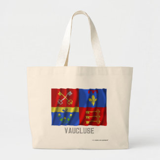 Vaucluse waving flag with name canvas bags