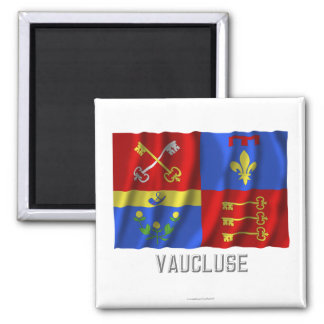 Vaucluse waving flag with name magnet