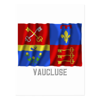 Vaucluse waving flag with name postcard