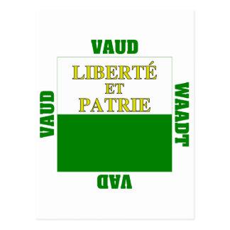 Vaud Switzerland Canton Flag Postcard