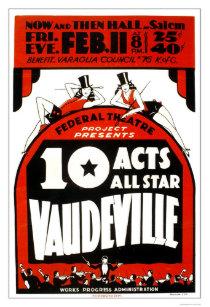 Vaudeville posters photo prints zazzle vaudeville all star 1938 wpa poster maxwellsz