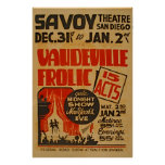 Vaudeville Frolic 15 Acts Gala Midnight Show WPA Poster
