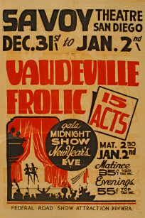 Vaudeville posters photo prints zazzle vaudeville frolic 15 acts gala midnight show wpa poster maxwellsz