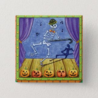 Vaudeville Skeleton Button