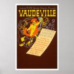 Vaudeville Vintage Poster - 9 Big Acts