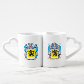 Vaughan Coat of Arms - Family Crest Couples' Coffee Mug Set
