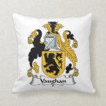 Vaughan Family Crest Throw Pillow