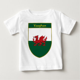 Vaughan Welsh Flag Shield Baby T-Shirt