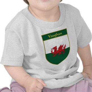 Vaughan Welsh Flag Shield Tee Shirts
