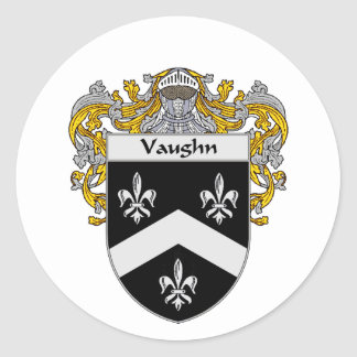 Vaughn Coat of Arms (Mantled) Classic Round Sticker