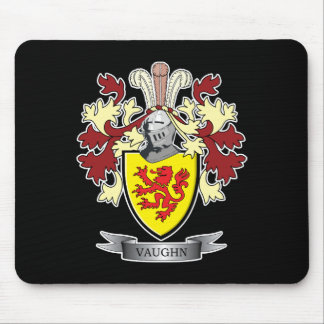 Vaughn Family Crest Coat of Arms Mouse Pad