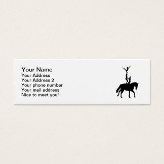 Vaulting dressage mini business card