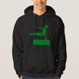 Vaulting Figure - Grass Green Hoodie