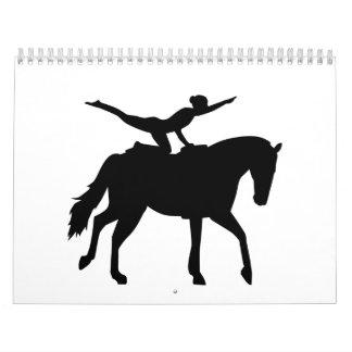 Vaulting horse wall calendar