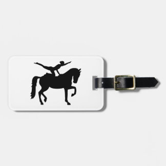 Vaulting horse luggage tag