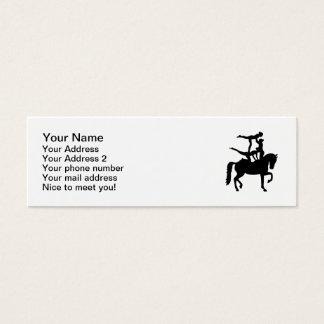 Vaulting horse mini business card