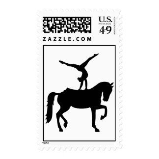 Vaulting horse postage
