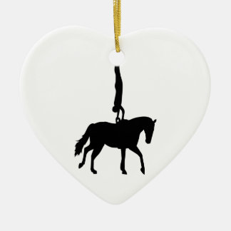 Vaulting horse sports ceramic ornament