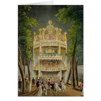 Vauxhall gardens, 1808 card