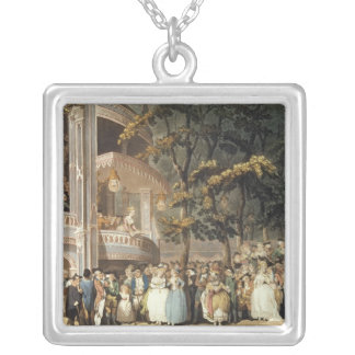 Vauxhall Gardens from Ackermann's Silver Plated Necklace