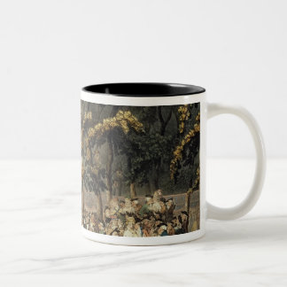Vauxhall Gardens from Ackermann's Two-Tone Coffee Mug