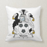 Vavon Family Crest Throw Pillow