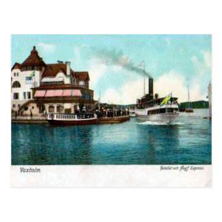 Vaxholm Sweden Tourist steamer Postcard