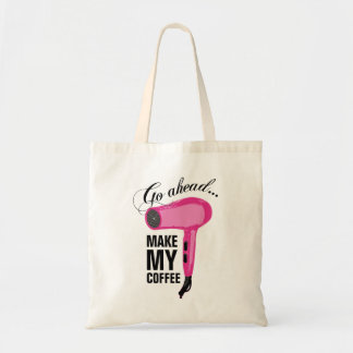 Vaya a continuación hacen mi café - secador rosado bolsa tela barata
