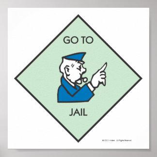 Vaya a encarcelar - el cuadrado de la esquina póster