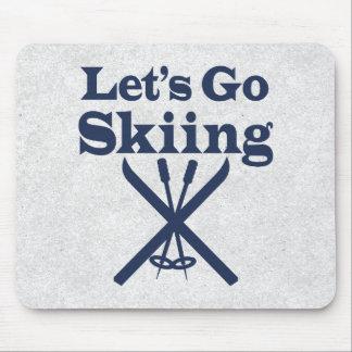 Vaya a esquiar alfombrilla de ratón