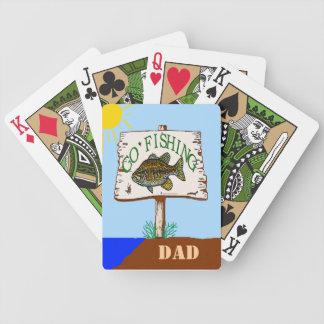 Vaya a pescar al papá baraja cartas de poker