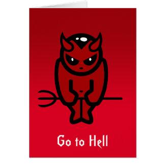 Vaya al notecard del infierno tarjeta pequeña