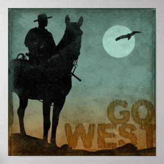 Vaya al oeste póster