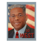 Vaya al oeste tarjetas postales