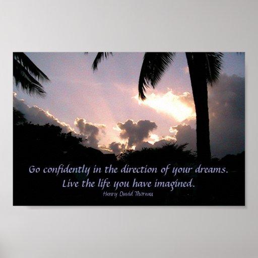Vaya con confianza en dirección de sus sueños póster