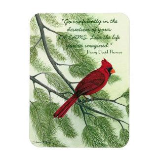 Vaya con confianza… - Imán cardinal rojo brillante