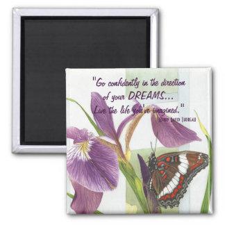 Vaya con confianza… - Imán del iris y de la maripo