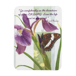 Vaya con confianza….- Imán púrpura del iris y de l