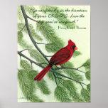 Vaya con confianza… - Poster cardinal rojo