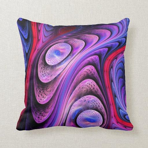 Vaya con el flujo, almohada abstracta moderna del