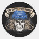 Vaya con el flujo (azul) etiquetas redondas