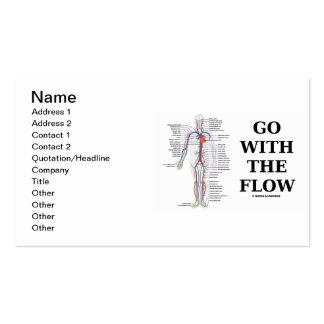 Vaya con el flujo (el sistema circulatorio) tarjeta de visita