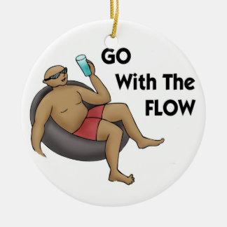 Vaya con el ornamento del flujo ornato
