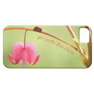 Vaya con la mariquita y la flor del flujo iPhone 5 carcasa