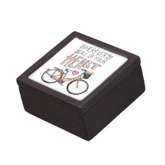 Vaya con todo su corazón - bicicleta del vintage caja de recuerdo de calidad