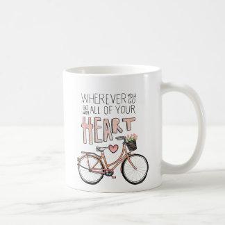 Vaya con todo su corazón - bicicleta del vintage taza clásica