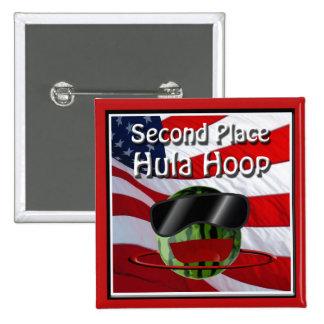 Vaya de fiesta 4 de julio el 2o aro de Hula del Pin Cuadrada 5 Cm
