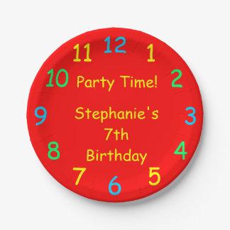 Vaya de fiesta las placas de papel del tiempo, 7mo plato de papel 17,78 cm