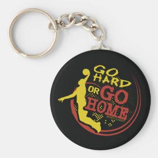 Vaya difícilmente o vaya a casa - baloncesto depor llavero redondo tipo pin