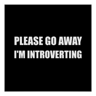 Vaya lejos a Introverting Póster